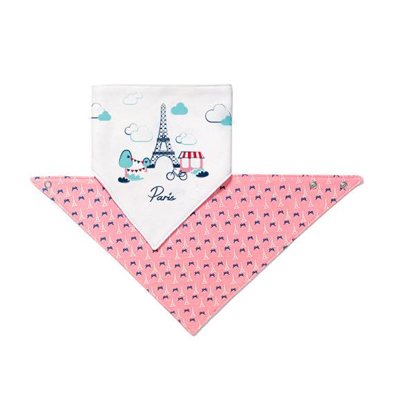 Купить Посуда для детей, Шейный платок–слюнявчик BabyOno Paris, 2 шт. (879/07)