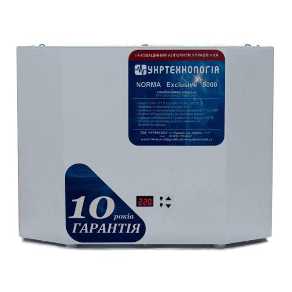 Купить Стабилизаторы напряжения, Стабилизатор напряжения Укртехнология Norma Exclusive НСН-5000 (25А), Укртехнологія
