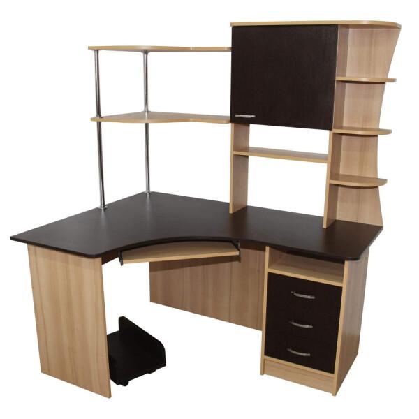 Купить Компьютерные столы, Компьютерный стол Кронос Ника Мебель Орех болонья темный + Дуб Венге, Nika Мебель