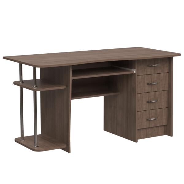 Купить Компьютерные столы, Компьютерный стол НСК-83 Ника Мебель Дуб Шамони темный, Nika Мебель