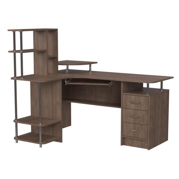 Купить Компьютерные столы, Компьютерный стол НСК-84 Ника Мебель Дуб Шамони темный, Nika Мебель