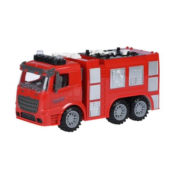 Купить Машинки, техника игровая, Машинка инерционная Same Toy Truck Пожарная машина со светом и звуком (98-618AUt)