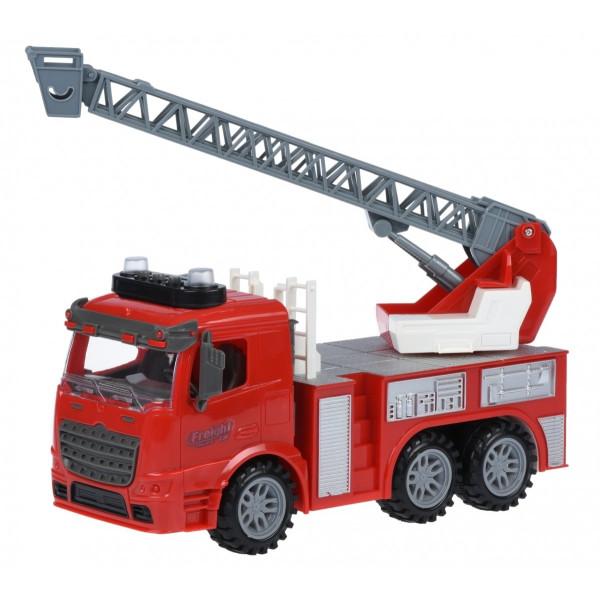 Купить Машинки, техника игровая, Машинка инерционная Same Toy Truck Пожарная машина с лестницей со светом и звуком (98-616AUt)