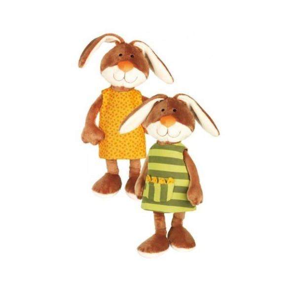 Мягкие игрушки, Мягкая игрушка sigikid Кролик в платье 40 см 38327SK  - купить со скидкой