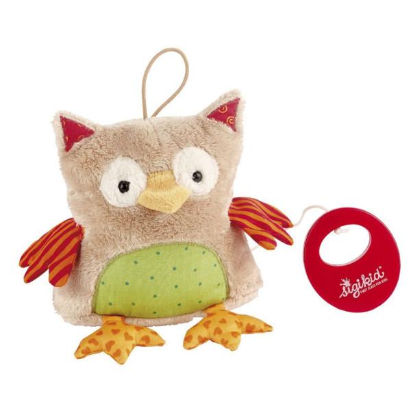 Купить Мягкие игрушки, Мягкая музыкальная игрушка sigikid Сова 13 см (40780SK)
