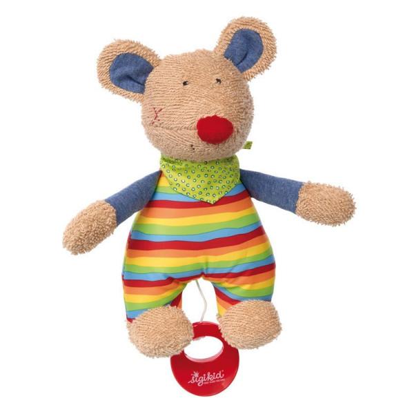 Купить Мягкие игрушки, Мягкая музыкальная игрушка sigikid Мышка 23 см (41535SK)