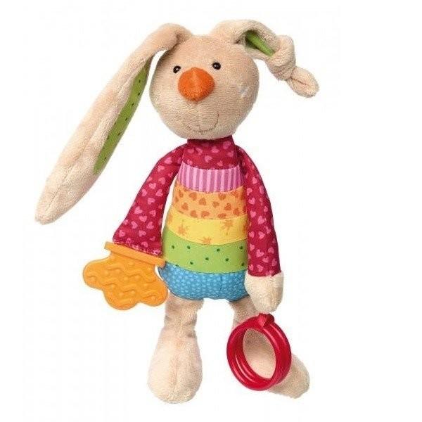Мягкие игрушки, Мягкая игрушка sigikid Кролик с погремушкой 26 см (41419SK)  - купить со скидкой