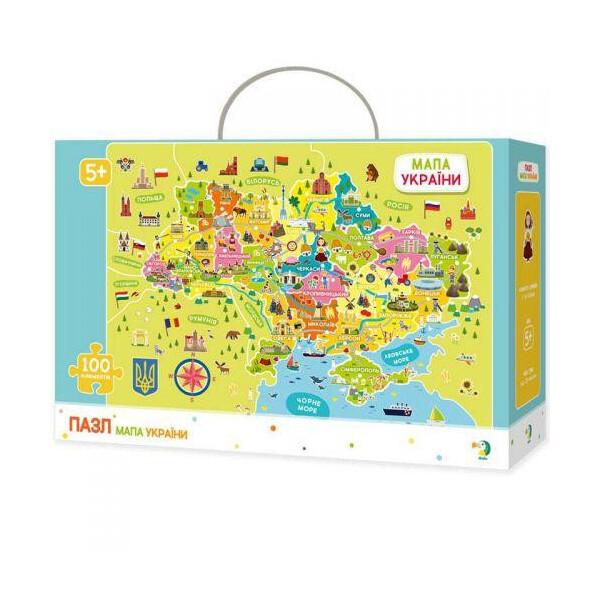 Купить Пазлы, Пазл DoDo Карта Украины 300109, DoDo Toys