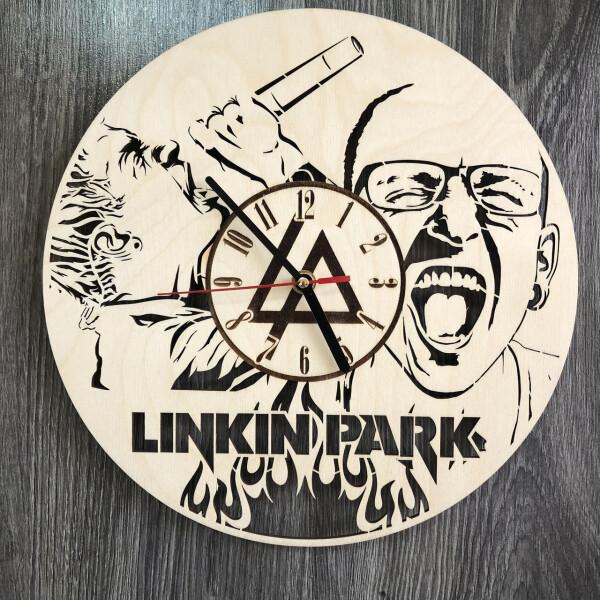 Купить Настенные часы, Концептуальные настенные часы в интерьер «Linkin Park», 7Arts
