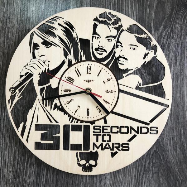Настенные часы, Концептуальные настенные часы в интерьер «Thirty Seconds to Mars», 7Arts  - купить со скидкой