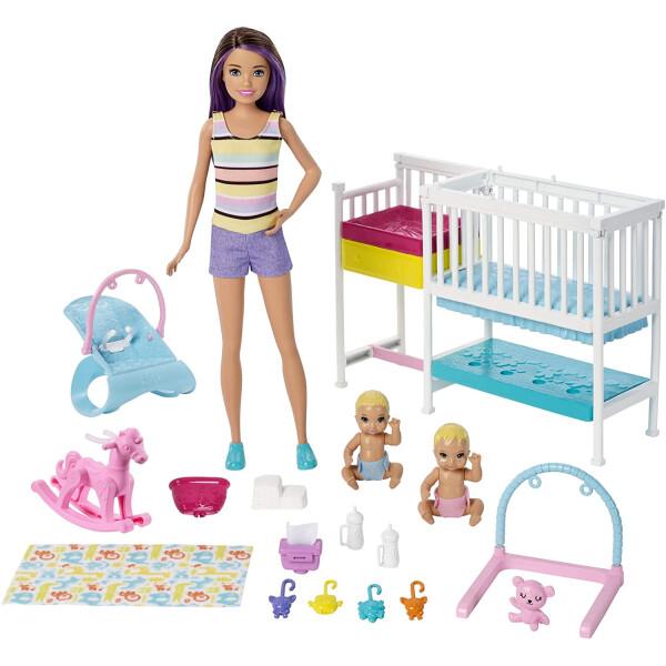Купить Куклы, наборы для кукол, Набор Барби Скиппер няня Уход за новорожденными (GFL38) Barbie Skipper Babysitters, Mattel