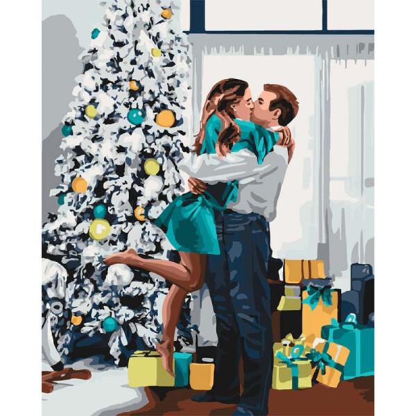 Купить Наборы для творчества и рукоделия, Картина по номерам Новогоднее настроение КНО4637, Идейка