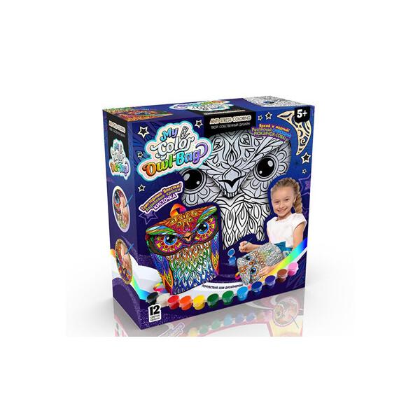 Купить Наборы для творчества и рукоделия, Креативна творчість My Color Owl-Bag рюкзачок-сова укр COWL-01-01U, Danko Toys