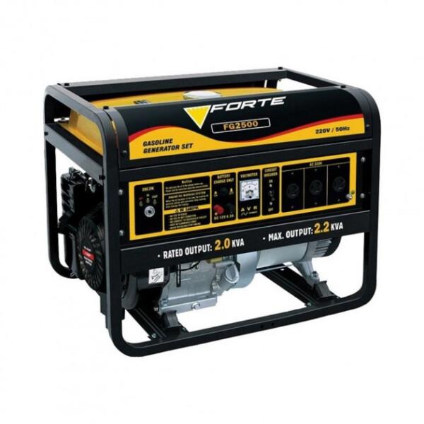 Генераторы, Генератор бензиновый Forte FG2500 2.0 кВт  - купить со скидкой