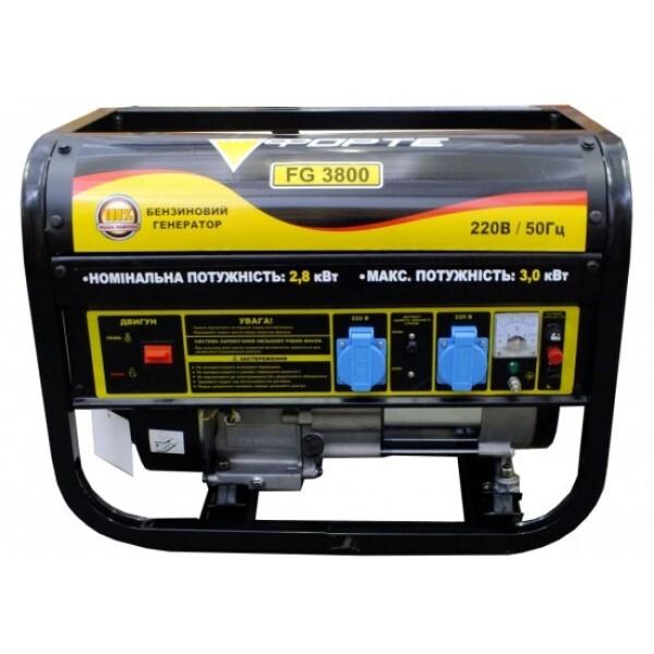 Купить Генераторы, Генератор бензиновый Forte FG3800 2.8 кВт
