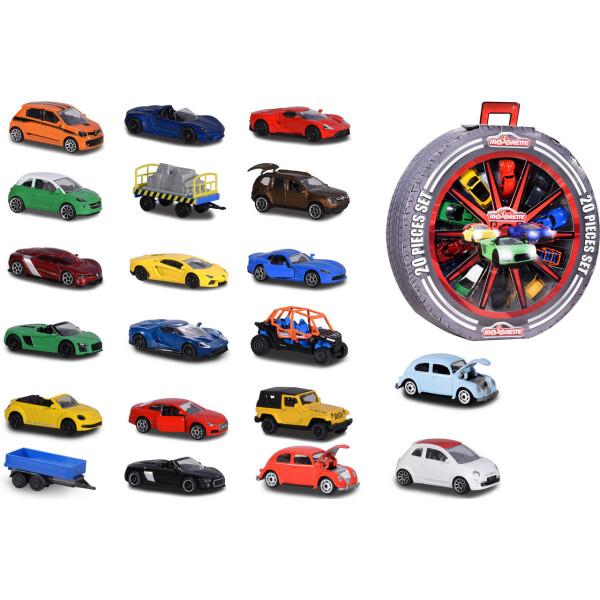Купить Машинки, техника игровая, Набор машинок металлических Majorette Колесо с автомобилями 7.5 см 20 шт (2058591)