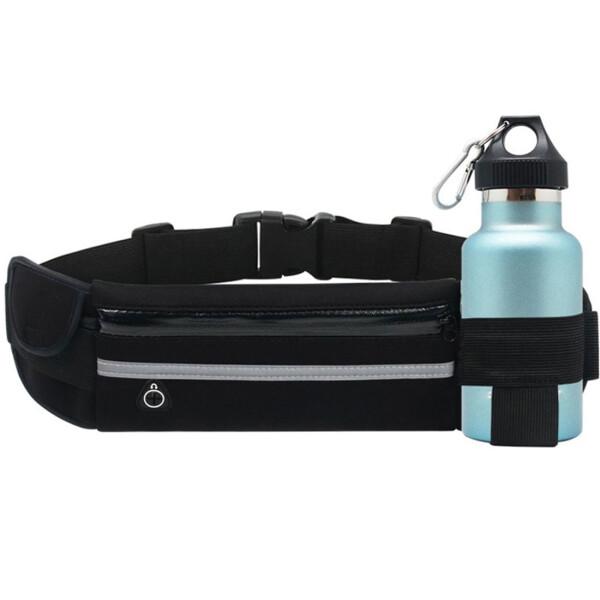 Купить Сумки спортивные и чехлы, Сумка на пояс спортивная, сумка для бега J&B (Черный), JB