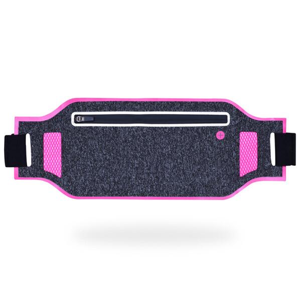 Купить Сумки спортивные и чехлы, Сумка для бега, сумка на пояс J&B UTWB-01 (Серый-розовый), JB