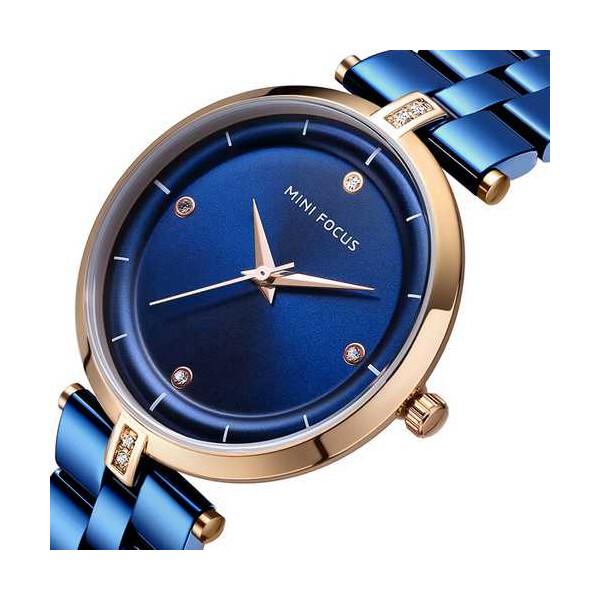 Купить Наручные часы, Mini Focus MF0120L.03 Blue-Cuprum Diamonds