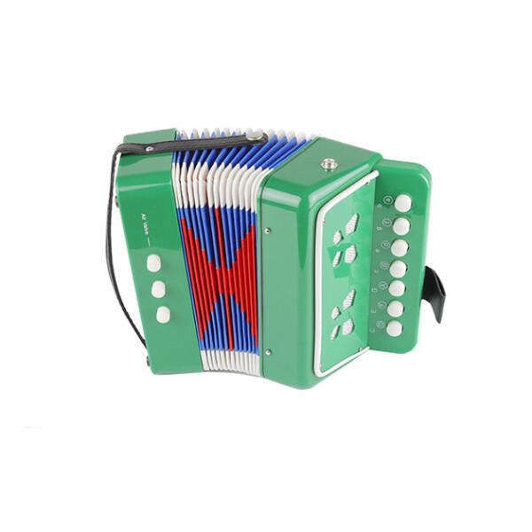 Купить Детские музыкальные инструменты, Гармошка Shantou Huada Toys Зелёная (6429Green)