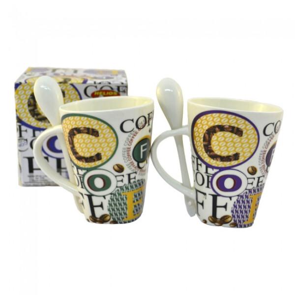 Купить Чашки и кружки, Кружка с ложкой Хозяюшка UA для кофе 340 мл