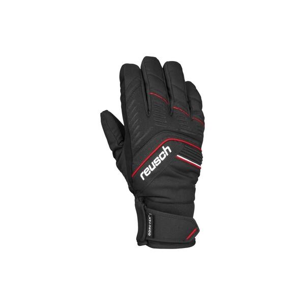 Купить Перчатки горнолыжные Reusch Linus GTX black/fire red - 8.5