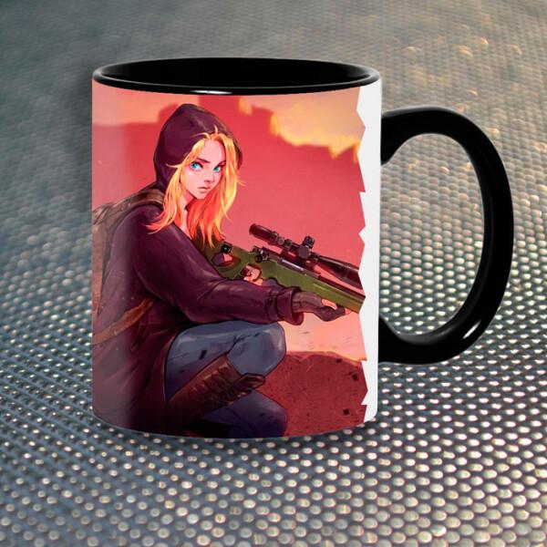 Купить Чашки и кружки, Чашка Gifty Girl Sniper PlayerUnknown's Battlegrounds (5414)