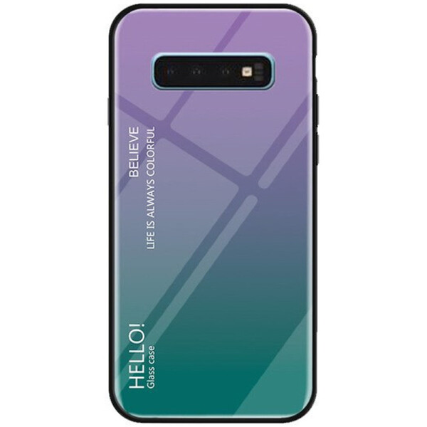 Купить Чехлы для телефонов, Противоударный Чехол накладка Epik Gradient Hello NEW для Samsung Galaxy S10 Plus Фиолетовый
