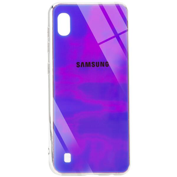 Купить Чехлы для телефонов, Противоударный Чехол накладка Epik Gradient Rainbow NEW с лого для Samsung Galaxy A10 Фиолетовый