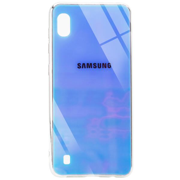 Купить Чехлы для телефонов, Противоударный Чехол накладка Epik Gradient Rainbow NEW с лого для Samsung Galaxy A10 Голубой