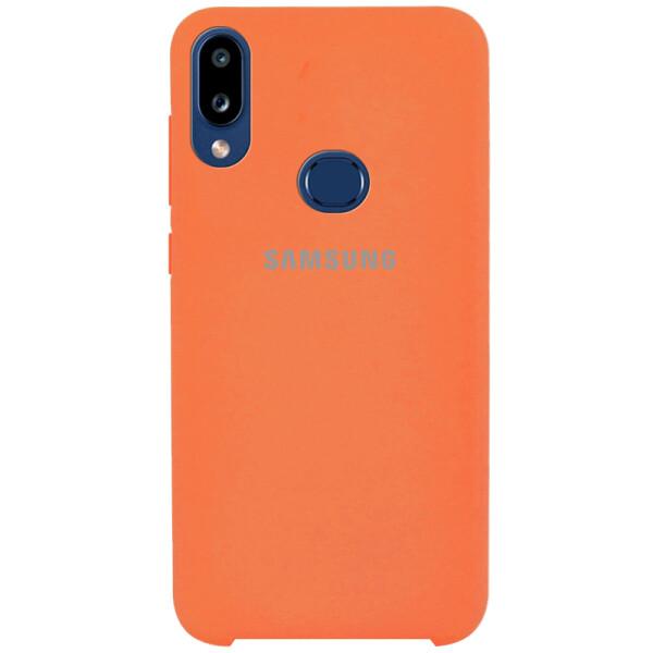 Противоударный Чехол накладка Epik Silicone case NEW для Samsung Galaxy A10s Оранжевый / Orange