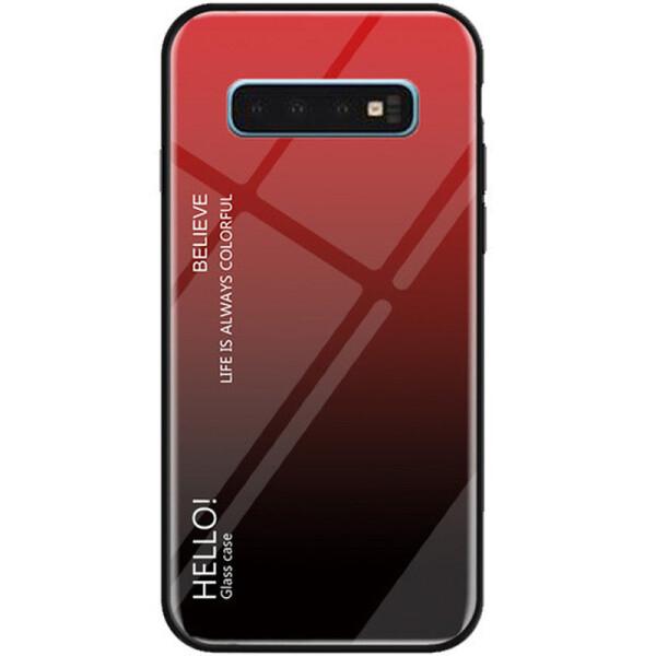 Купить Чехлы для телефонов, Противоударный Чехол накладка Epik Gradient Hello NEW для Samsung Galaxy S10 Plus Красный