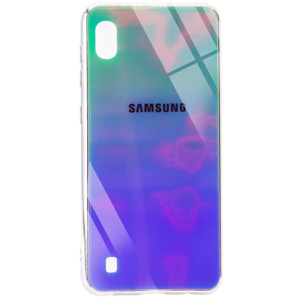 Купить Чехлы для телефонов, Противоударный Чехол накладка Epik Gradient Rainbow NEW с лого для Samsung Galaxy A10 Зеленый