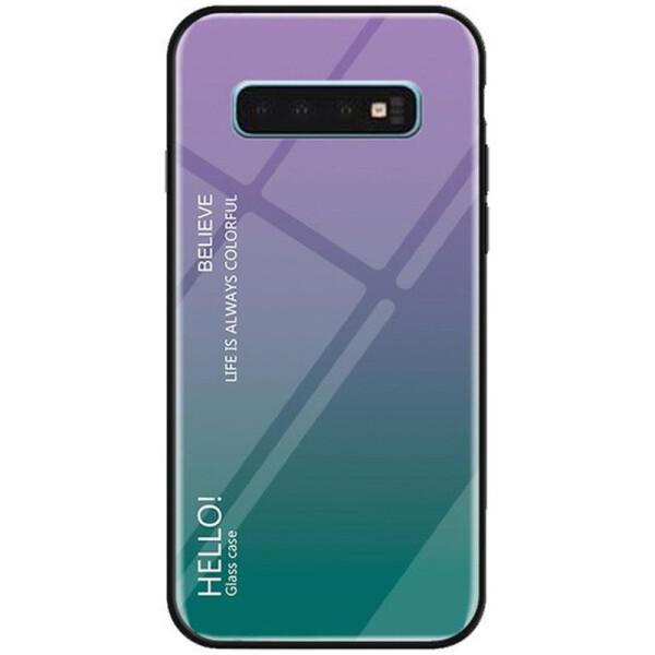 Купить Чехлы для телефонов, Противоударный Чехол накладка Epik Gradient Hello NEW для Samsung Galaxy S10 Фиолетовый