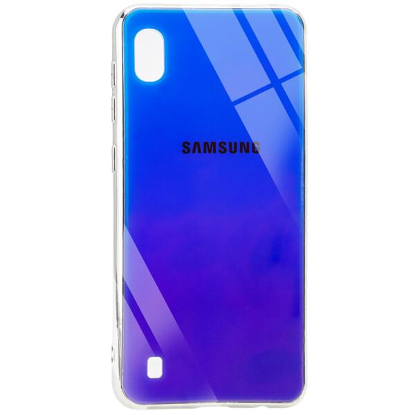 Купить Чехлы для телефонов, Противоударный Чехол накладка Epik Gradient Rainbow NEW с лого для Samsung Galaxy A10 Синий