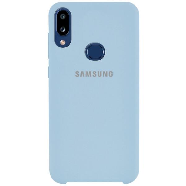 Противоударный Чехол накладка Epik Silicone case NEW для Samsung Galaxy A10s Голубой / Lilac Blue