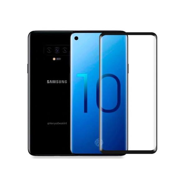 Купить Защитные стекла, Противоударное Защитное стекло Nillkin Anti-Explosion Glass Screen CP+ max 3D NEW для Samsung Galaxy S10 Прозрачный / Черный