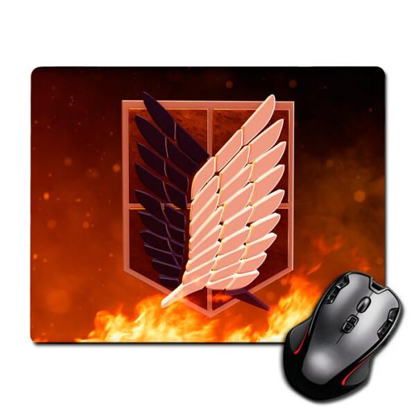 Купить Коврики для мышки, Игровая поверхность Лого Атака Титанов Logo Attack On Titan 300 х 250 мм (825553), Nextprint