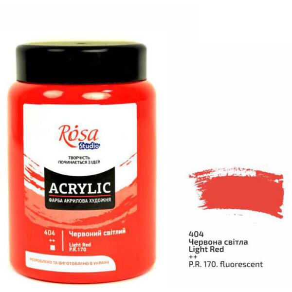 Наборы для творчества и рукоделия, Краска акриловая матовая Rosa Studio Красная светлая (404) 400 мл (322419404)  - купить со скидкой