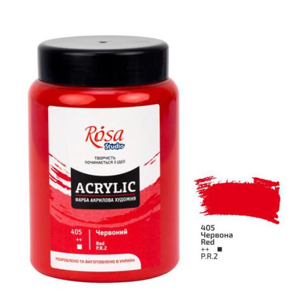 Купить Наборы для творчества и рукоделия, Краска акриловая матовая Rosa Studio Красная (405) 400 мл (322419405)
