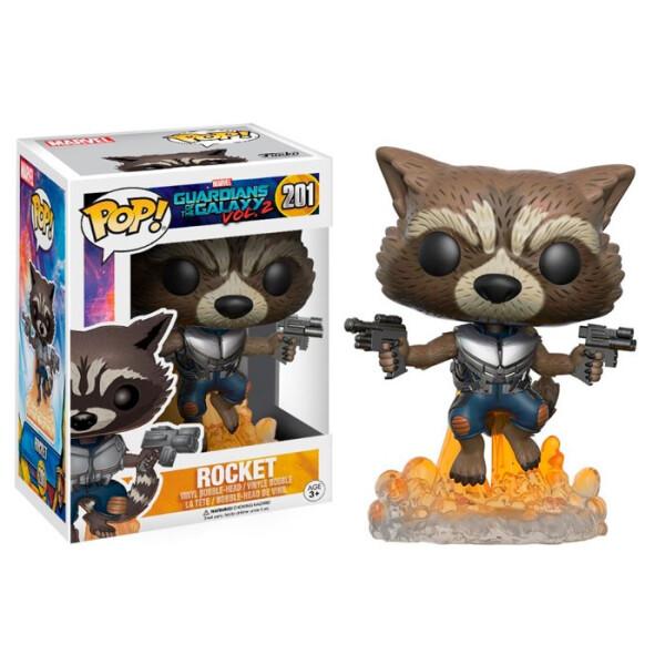 Купить Фигурки игровые, персонажи мультфильмов, Фигурка Funko Pop Реактивный Ракета Flying Rocket Raccoon Стражи Галактики 2 13270