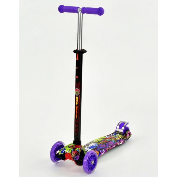 Купить Самокаты, Самокат Scooter Maxi S779 Фиолетовый Графити