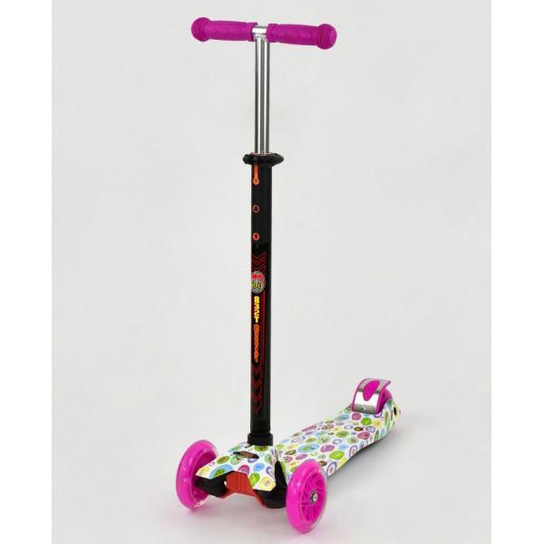 Купить Самокаты, Самокат Scooter Maxi S779 Розовый Кружки