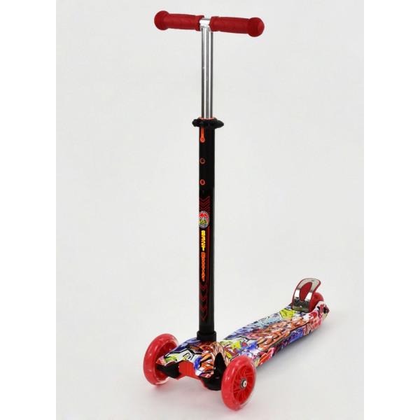Купить Самокаты, Самокат Scooter Maxi S779 Красный Графити