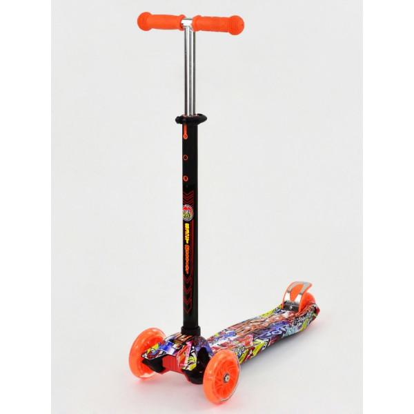Купить Самокаты, Самокат Scooter Maxi S779 Оранжевый Графити
