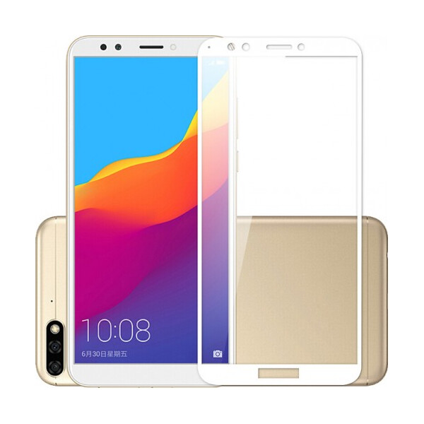 Купить Защитные стекла, Противоударное Защитное стекло Mocolo Full Glue NEW на весь экран для Huawei Y7 Prime 2018 / Honor 7C Pro Прозрачный / Белый