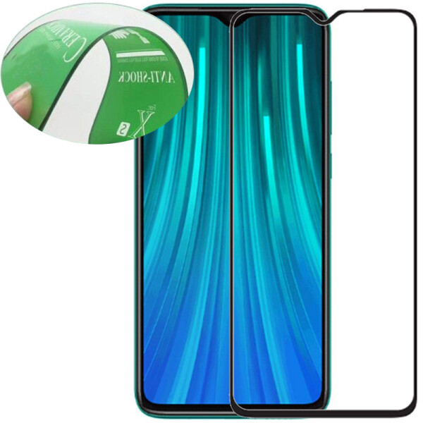 Защитные стекла, Противоударное Защитное стекло Epik Ceramics Full Glue NEW для Xiaomi Redmi Note 8 Pro Прозрачный / Черный  - купить со скидкой