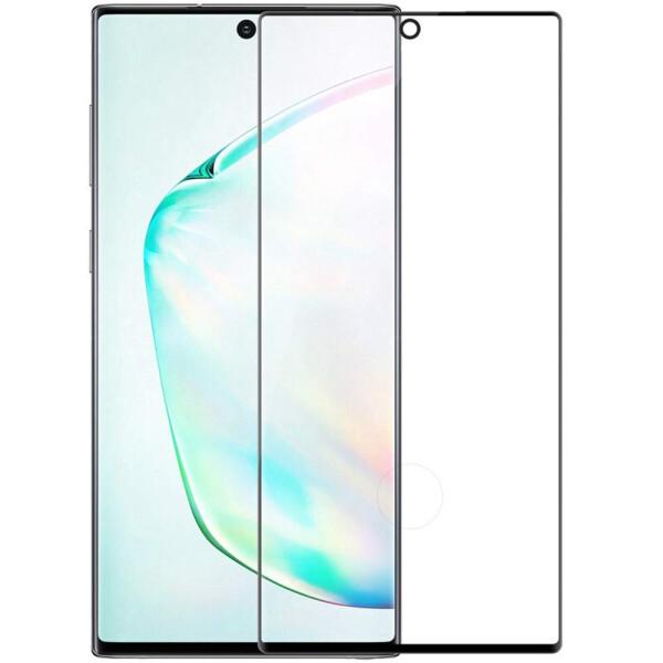 Защитные стекла, Противоударное Защитное стекло Polymer Nano Full Glue NEW для Samsung Galaxy Note 10 Прозрачный / Черный, Epik  - купить со скидкой