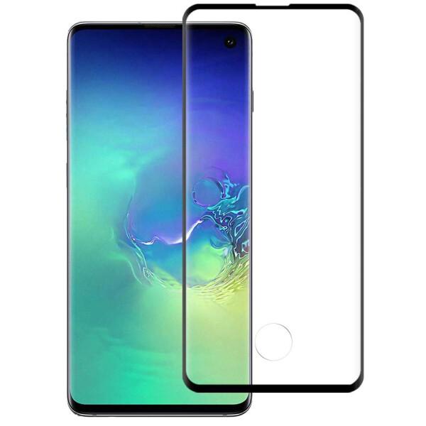 Купить Защитные стекла, Противоударное Защитное стекло Polymer Nano Full Glue NEW для Samsung Galaxy S10 Прозрачный / Черный, Epik