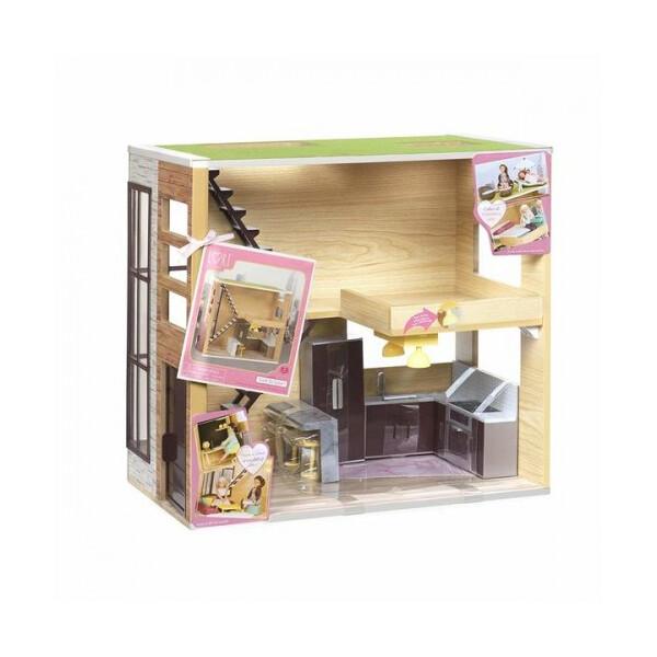 Купить Игровые наборы, Игровой набор LORI Деревянный дом (LO37004Z)